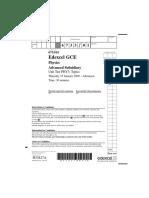 EdExcel a Level Physics Unit 3 Paper 1 Jan 2009