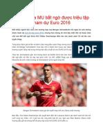 Sao Trẻ Của MU Bất Ngờ Được Triệu Tập Tham Dự Euro 2016