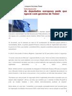 20160530 – Deputados Europeus Boicotam Temer