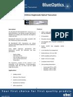 BlueOptics BO35J13602D 10GBASE-LR SFP+ Transceiver 1310nm 2KM Singlemode LC Duplex 10 Gigabit