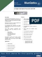 BlueOptics BO54J15680D 10GBASE-ZR CDR SFP+ Transceiver 1550nm 80 Kilometer Singlemode LC-Duplex 10 Gigabit