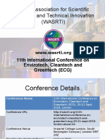 11th International Conference on Envirotech, Cleantech and Greentech (ECG)