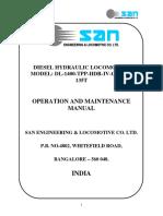Operation Manual for San 1400 TPP HDR IV CC BG 135T