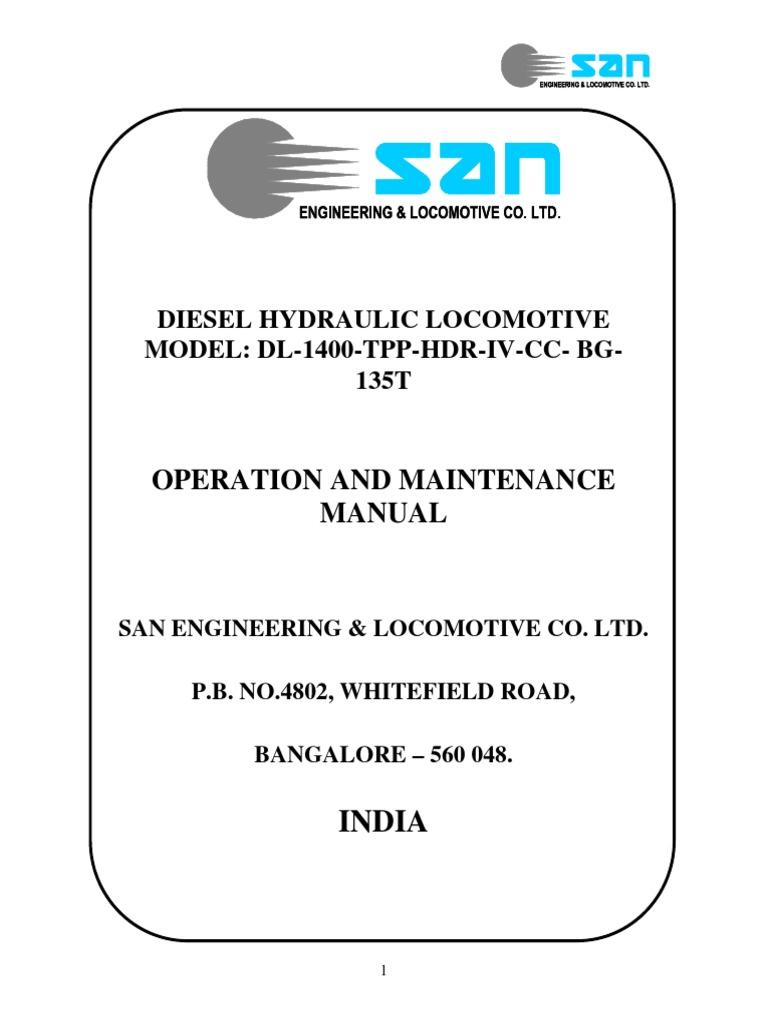 Operation Manual For San 1400 Tpp Hdr Iv Cc Bg 135t Transmission Forward And Reverse Of The Dynamic Braking Circuit 2 Mechanics Valve