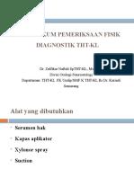 Praktikum Pemeriksaan Fisik Diagnostik THT-KL- Recover