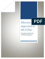 Effective Approach to Ba II Plus Calculator