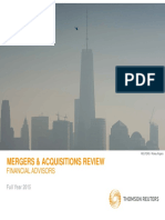 Thomson Reuters M&a Review (2015)