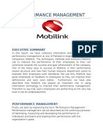 Performance Management Mobilink
