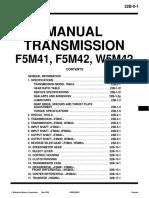 F5M42. 41.43 Cambio Manual