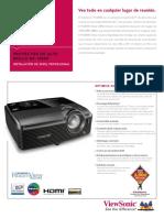 Viewsonic PRO8400 DLP Projector Data Sheet - Spanish