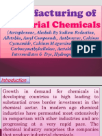 Manufacturing of Industrial Chemicals (Acetophenone, Alcohols By Sodium Reduction, Alletrhin, Amyl Compounds, Anthracene, Calcium Cyanamide, Calcium Magnesium Aconitate, Carboxymethylcellulose, Acetaldehyde, Dye Intermediates & Dye, Hydroquinone etc.)