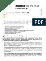 Région - Communiqué de Commission Permanente du 31 mai 2016