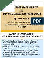 Kejahatan Ham Berat Uu Pengadilan Ham 2000 Heru Susetyo May 2014 Rev