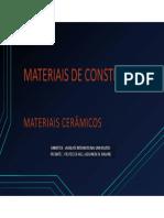 7-MATERIAIS DE CONSTRUÃ_ÃfO-Cerâmica-Vidro