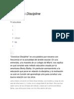 DISICIPLINA CONSCIENTE
