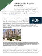 Empresa De Limpieza Madrid, Servicios De Limpieza Industrial En la capital española