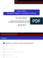 Intro to Writing Research Papers in Computer Science