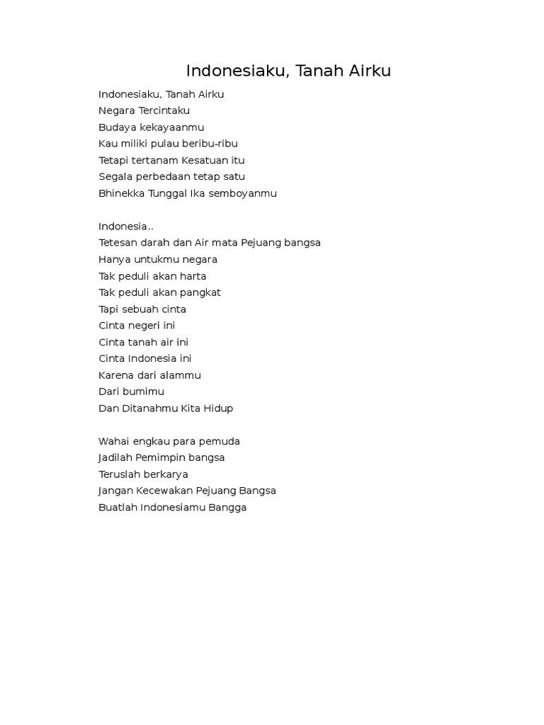 Kumpulan Puisi Cinta Tanah Air Dalam Bahasa Inggris Dan Artinya Puisitroman