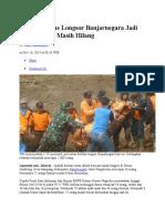 Korban Tewas Longsor Banjarnegara Jadi 56 Orang