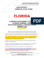 FL Insurance Exam Outline