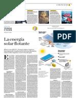 La Energía Solar Flotante