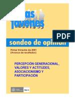 INJUVE (2001). Percepción Generacional, Valores y Actitudes, Asociacionismo y Participación - Avance