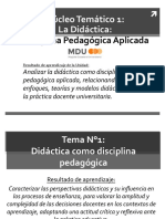 NT1 - Didáctica Como Disciplina Pedagógica Nº1