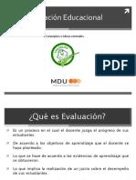 3. Evaluación Educacional