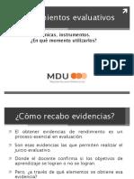 5. Procedimientos evaluativos