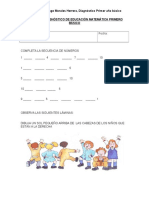 Prueba de Diagnostico de Educacion Matematica Primero Basico (1)