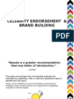 Celebrity Endorsement & Brand Building
