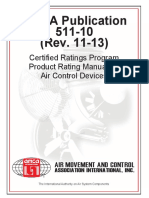 AMCA Publication 511-10 - Certified Ratings Program Product Rating Manual for Air Control Devices