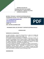Programa Tratados y Contratos Internacionales1