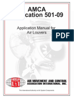 AMCA Publication 501-09 - Application Manual for Air Louvers - Preview
