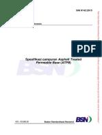 SNI 8142-2015 Spesifikasi Campuran Asphalt Treated Permeable Base (ATPB)