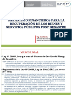 Mecanismo Financiero Post Desastre