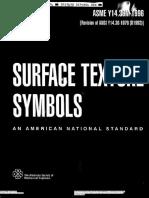 ASME Y14.36M-1996 - Surface Texture Symbols