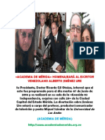 Academia de Mérida Programa Homenaje a Jiménez Ure