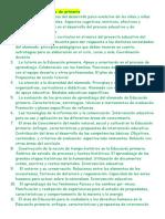 Los 25 Temas Del Temario de Primaria