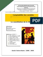 Constitution de La SARL Copie