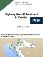 Highway Runoff Treatment in Croatia