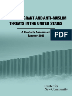 Anti-Immigrant and Anti-Muslim Threats in the United States