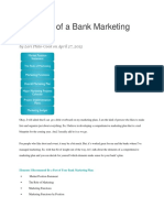 Elements of a Bank Marketing Plan