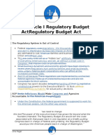 A1P Regulatory Budget Act