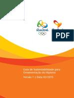 Rio 2016 Guia de Sustentabilidade Para Ornamentação Do Hipismo