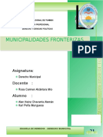 Municipalidades Fronterizas