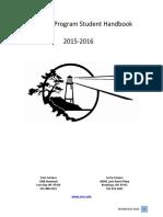 nursing program student handbook 2015-2016