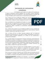 o. Reforma a La Ordenanza de Gestión Del Servicio de Agua Potable y Saneamiento en El Cantón Morona. 2016 (1)