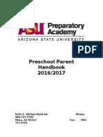 prek handbook 2016 - 2017