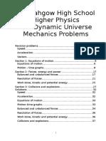 ODU Mechanics Questions o level a level physics